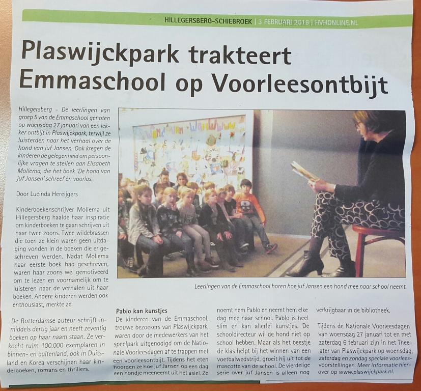 HvH - Plaswijckpark trakteert 3-2-2016