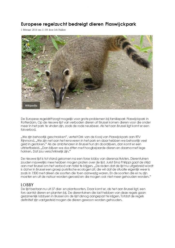 METRO Europese regelzucht bedreigt dieren Plaswijck 1-2-2016